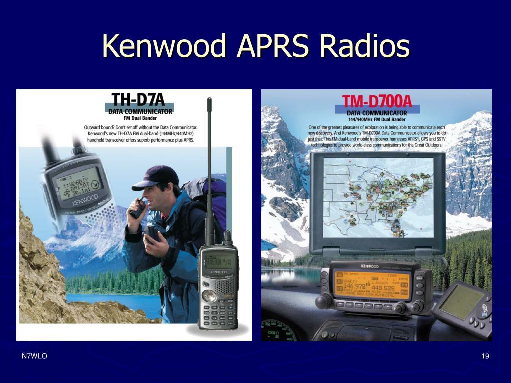 Kenwood APRS Radios