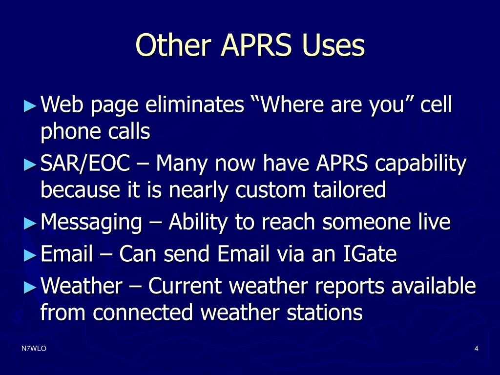 Other APRS Uses