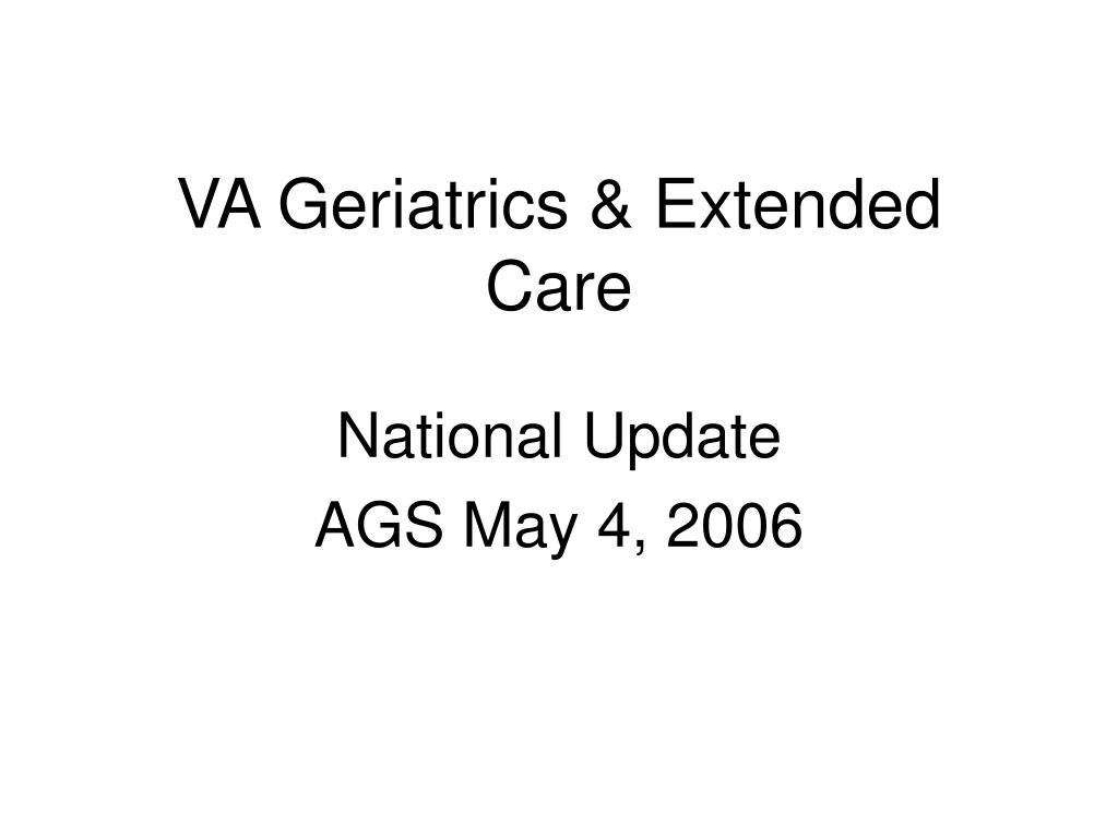 va geriatrics extended care