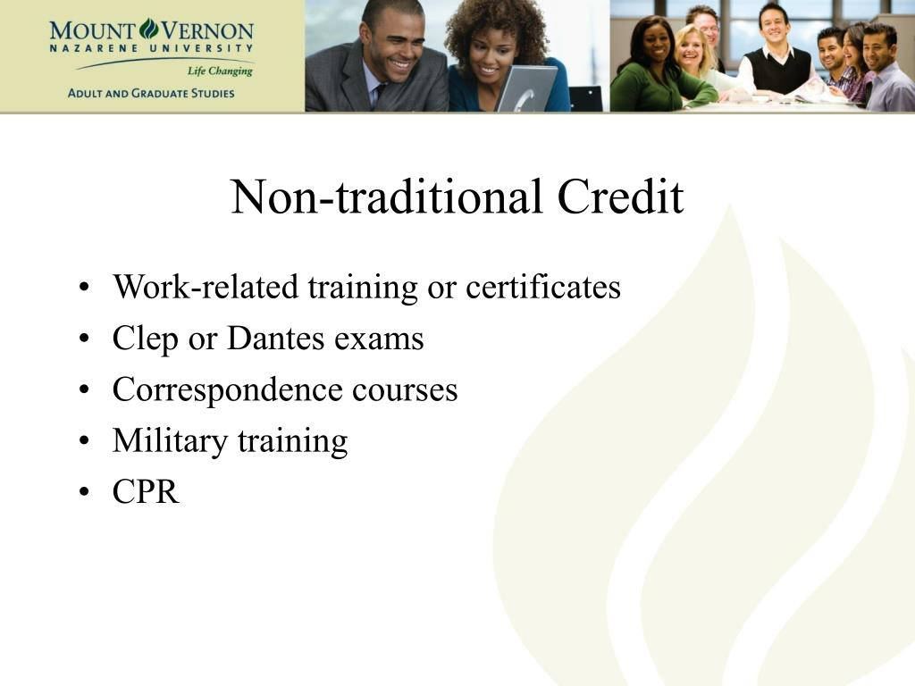 Non-traditional Credit