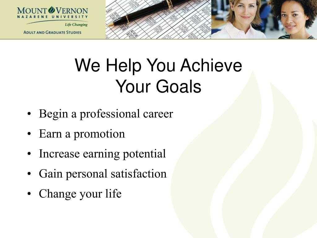 We Help You Achieve