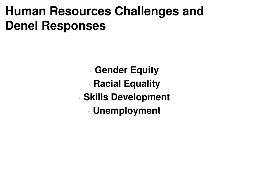 Human Resources Challenges and
