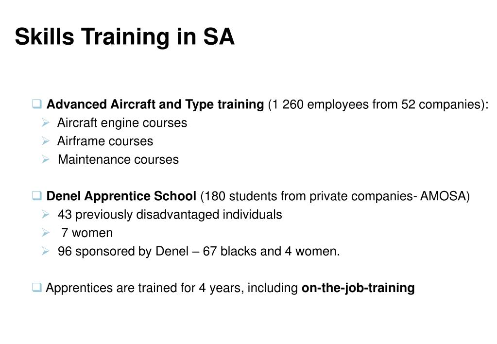 Skills Training in SA