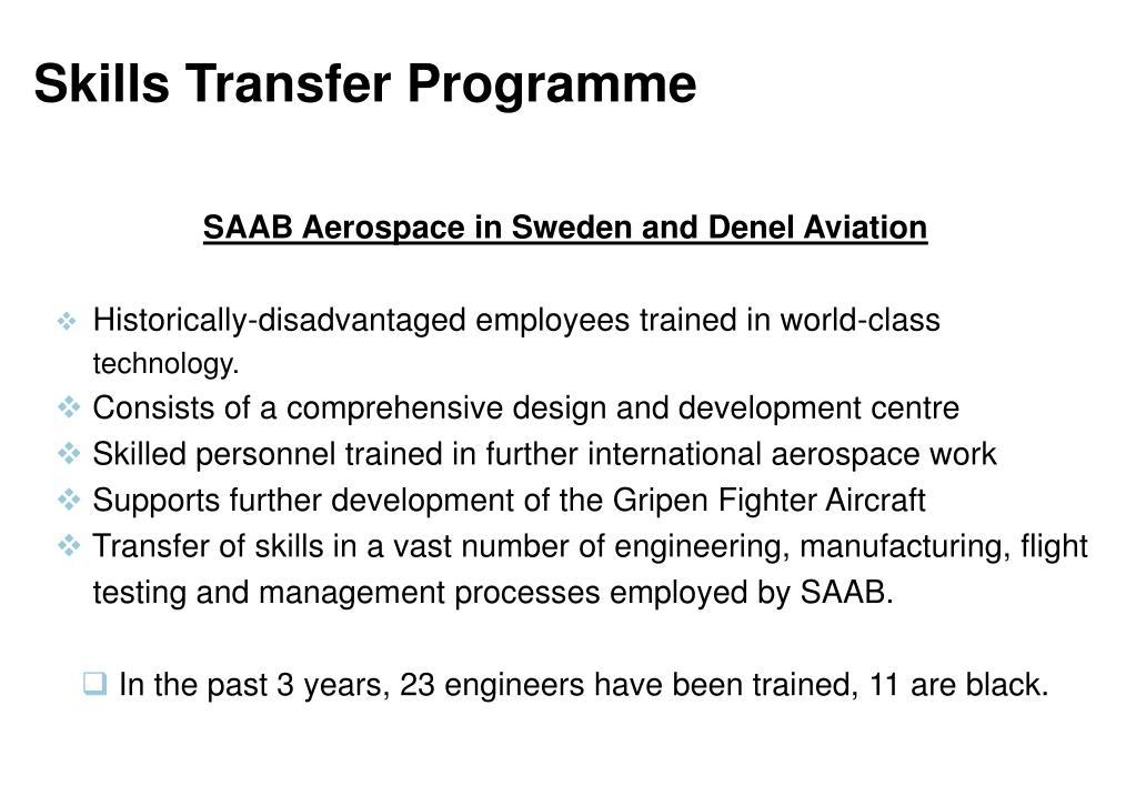 Skills Transfer Programme