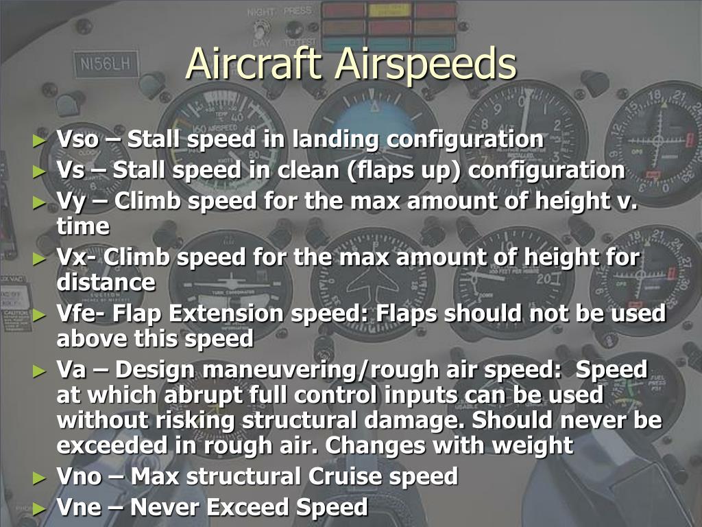 Aircraft Airspeeds