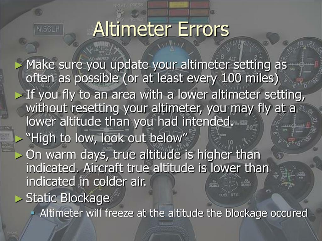 Altimeter Errors