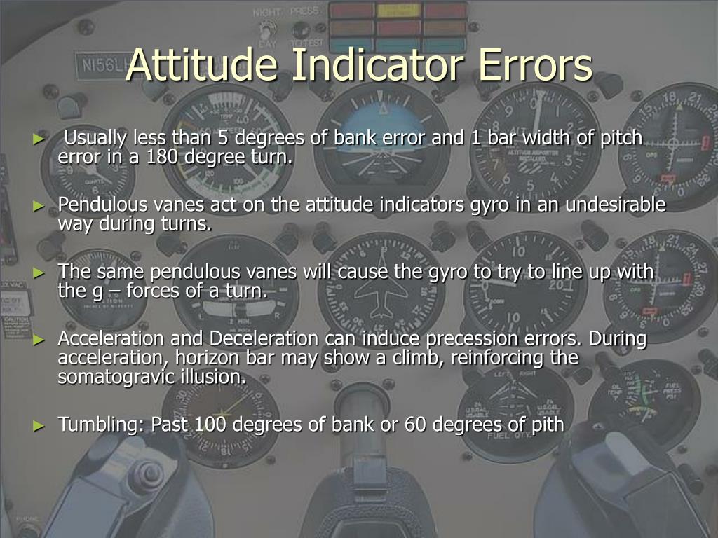 Attitude Indicator Errors