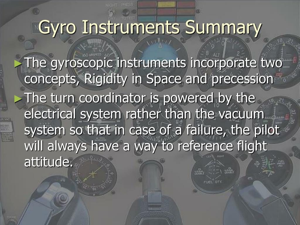 Gyro Instruments Summary