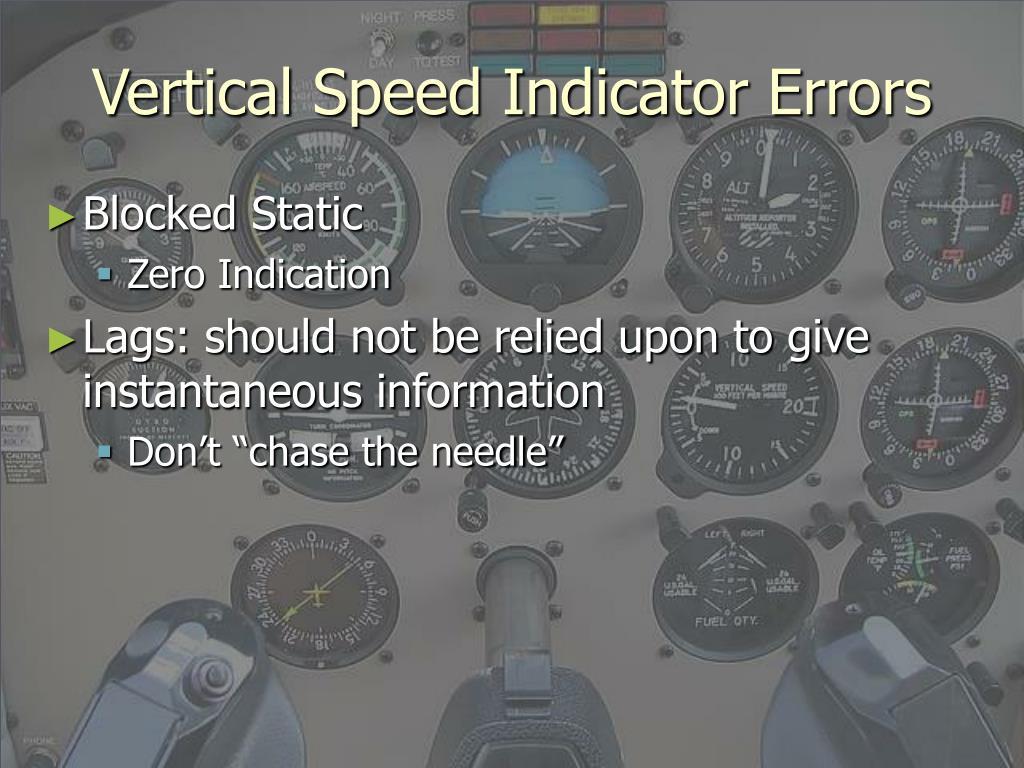 Vertical Speed Indicator Errors