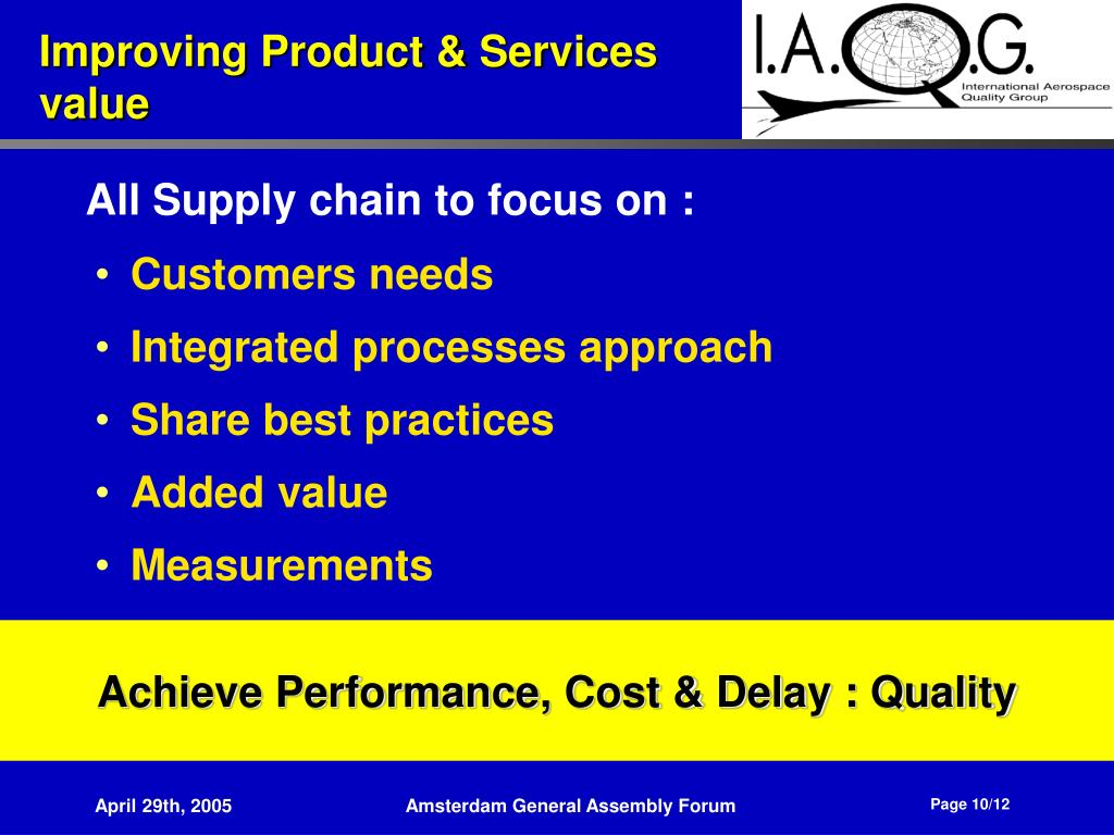 Achieve Performance, Cost & Delay : Quality