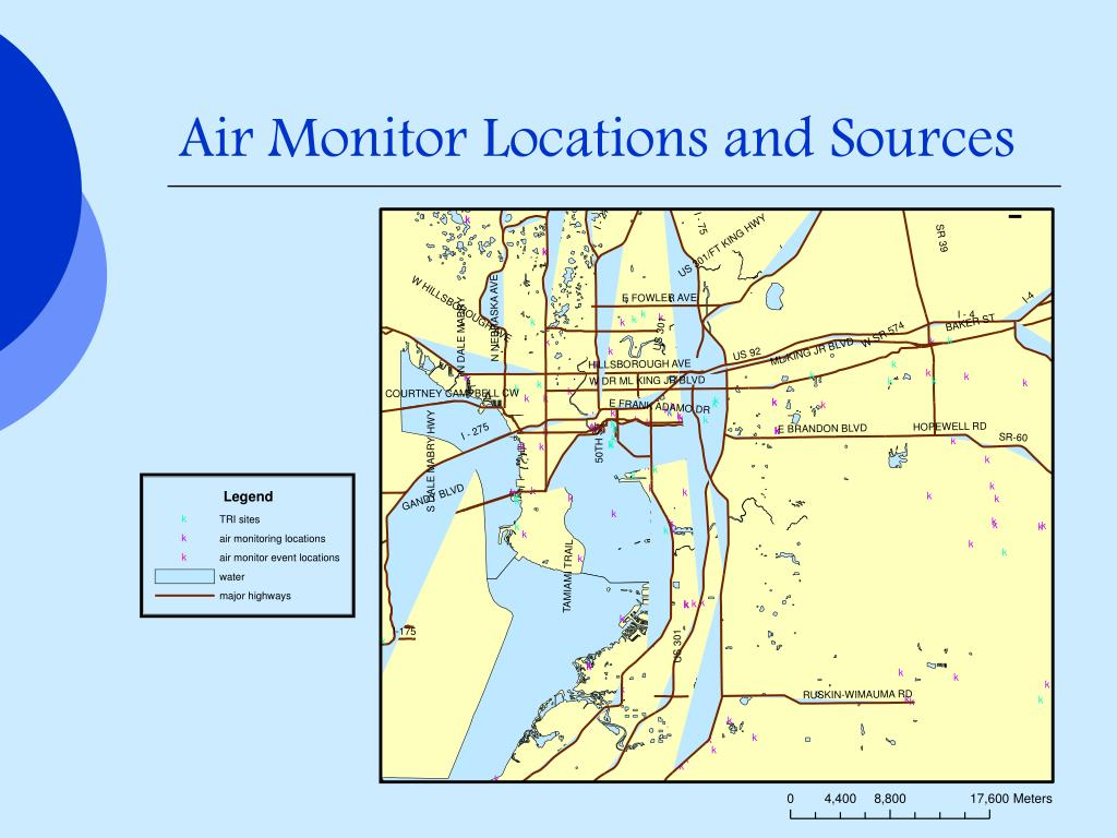 Air Monitor Locations and Sources