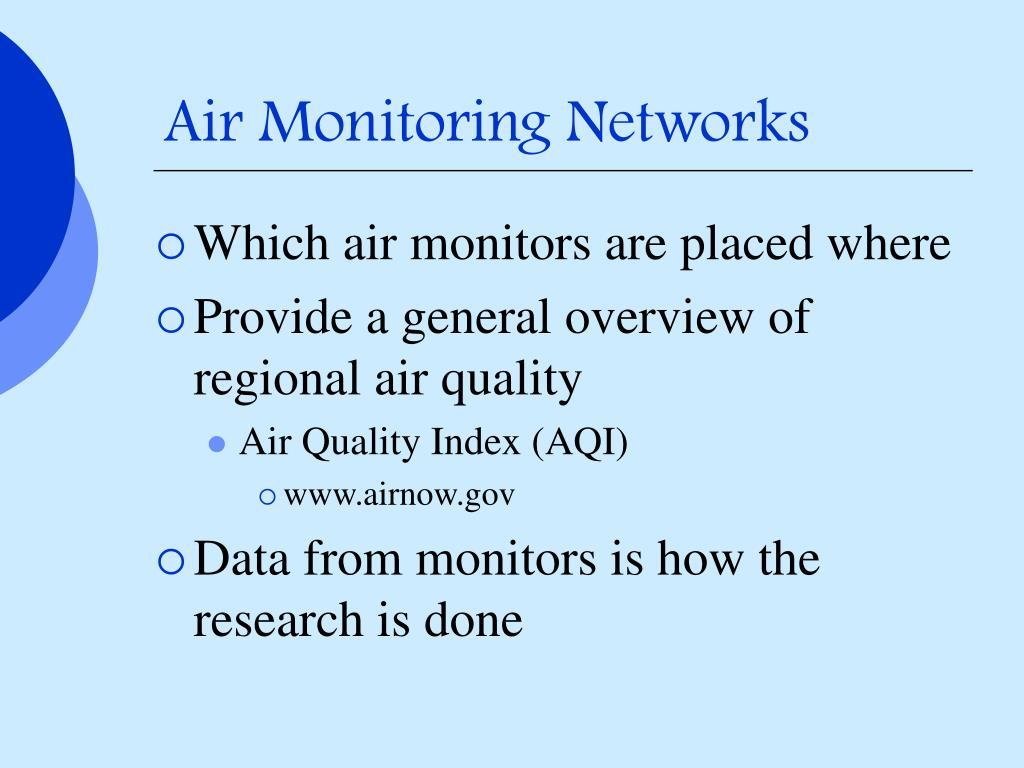 Air Monitoring Networks