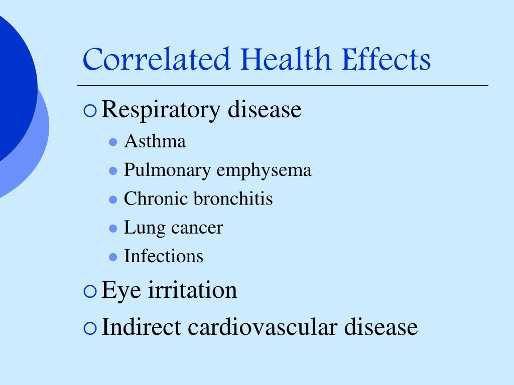 Correlated Health Effects