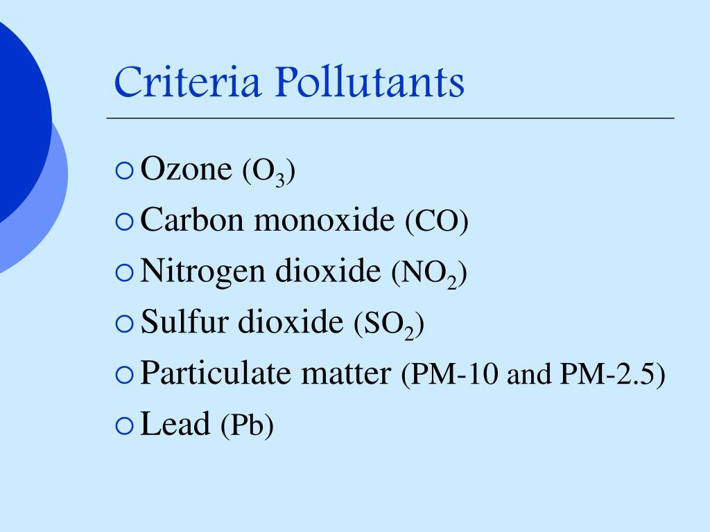 Criteria Pollutants