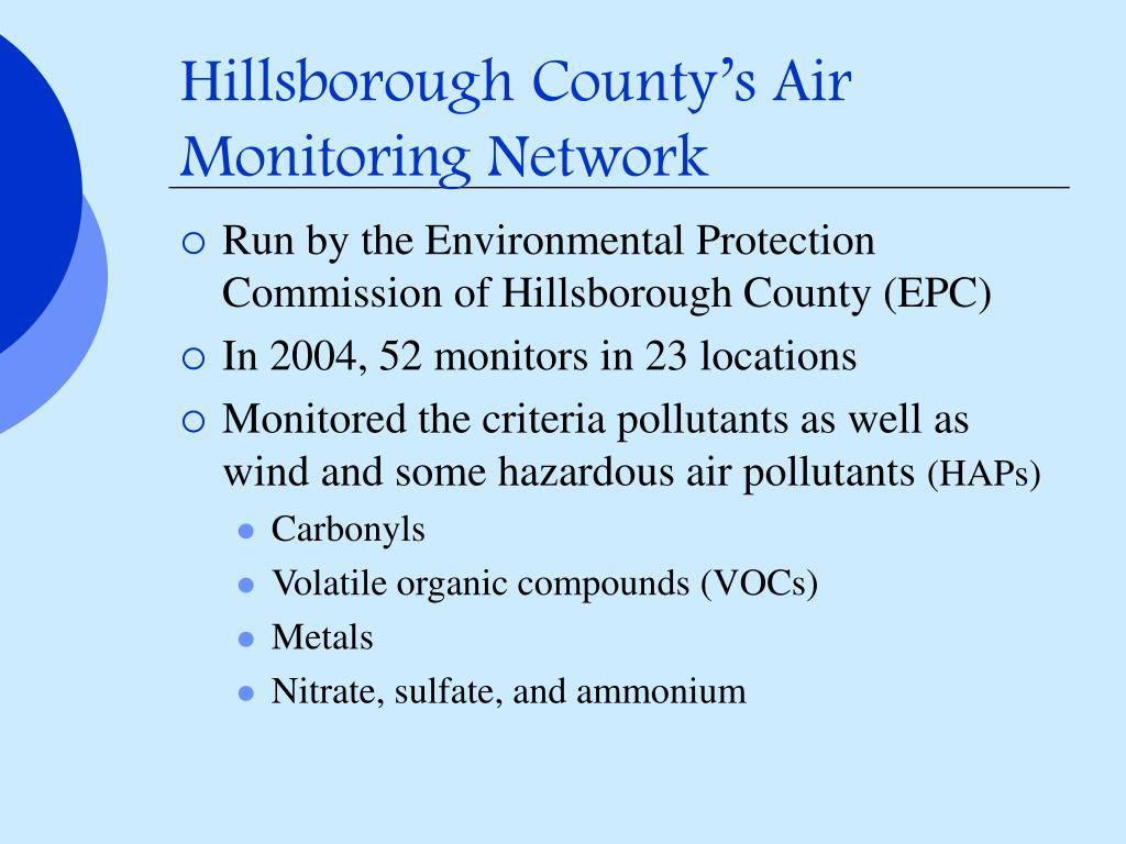Hillsborough County's Air Monitoring Network