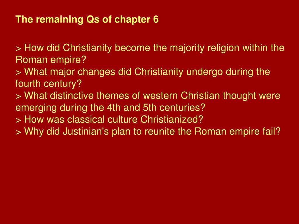 The remaining Qs of chapter 6