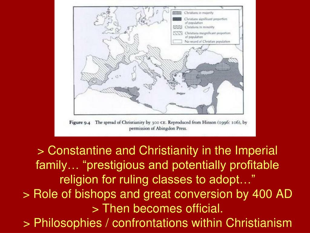 """> Constantine and Christianity in the Imperial family… """"prestigious and potentially profitable religion for ruling classes to adopt…"""""""