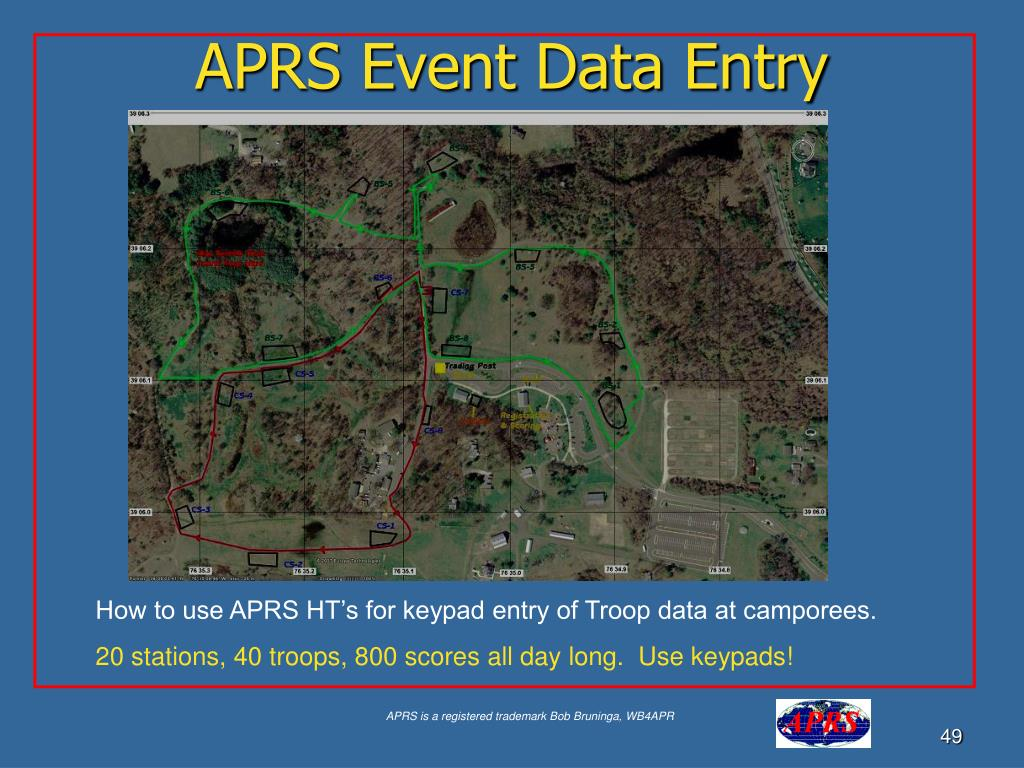 APRS Event Data Entry
