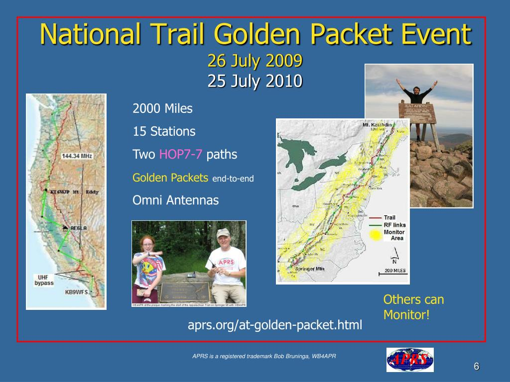 National Trail Golden Packet Event