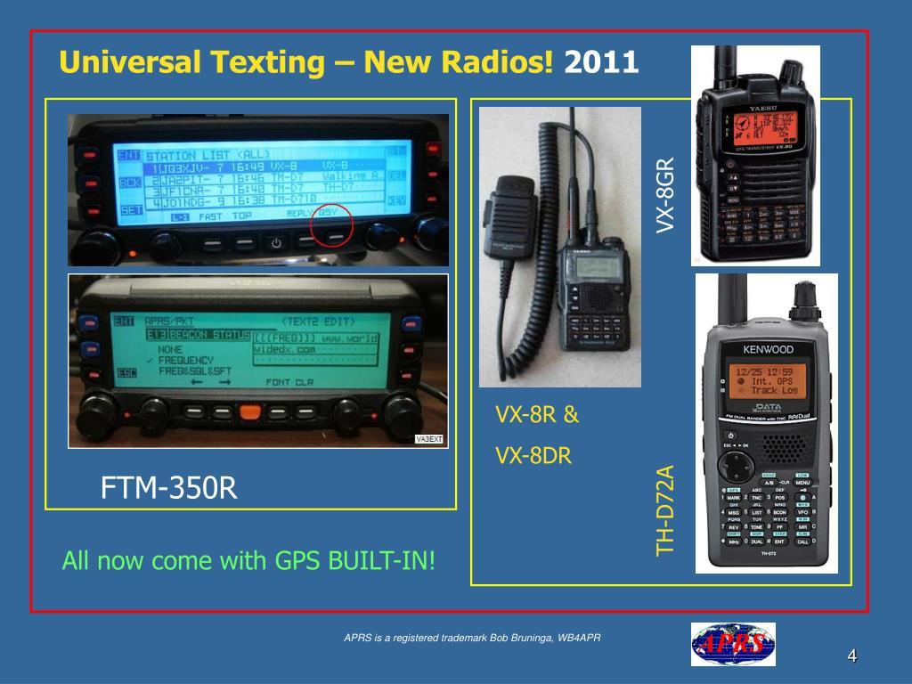 Universal Texting – New Radios!