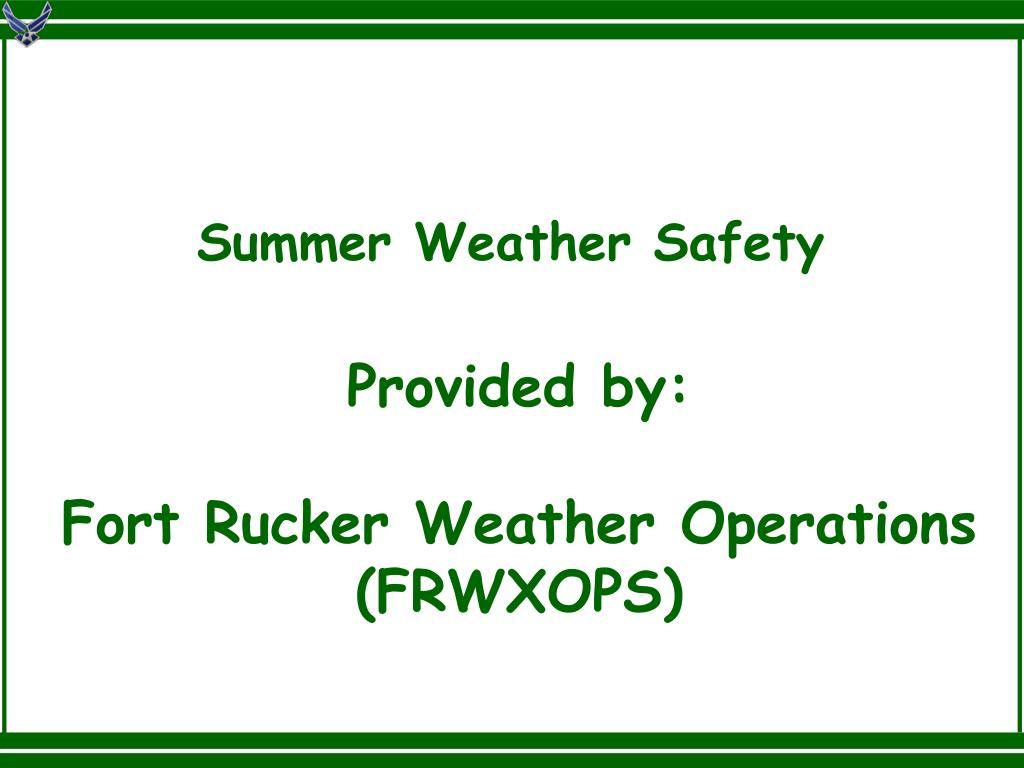 Summer Weather Safety