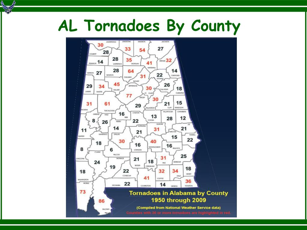 AL Tornadoes By County