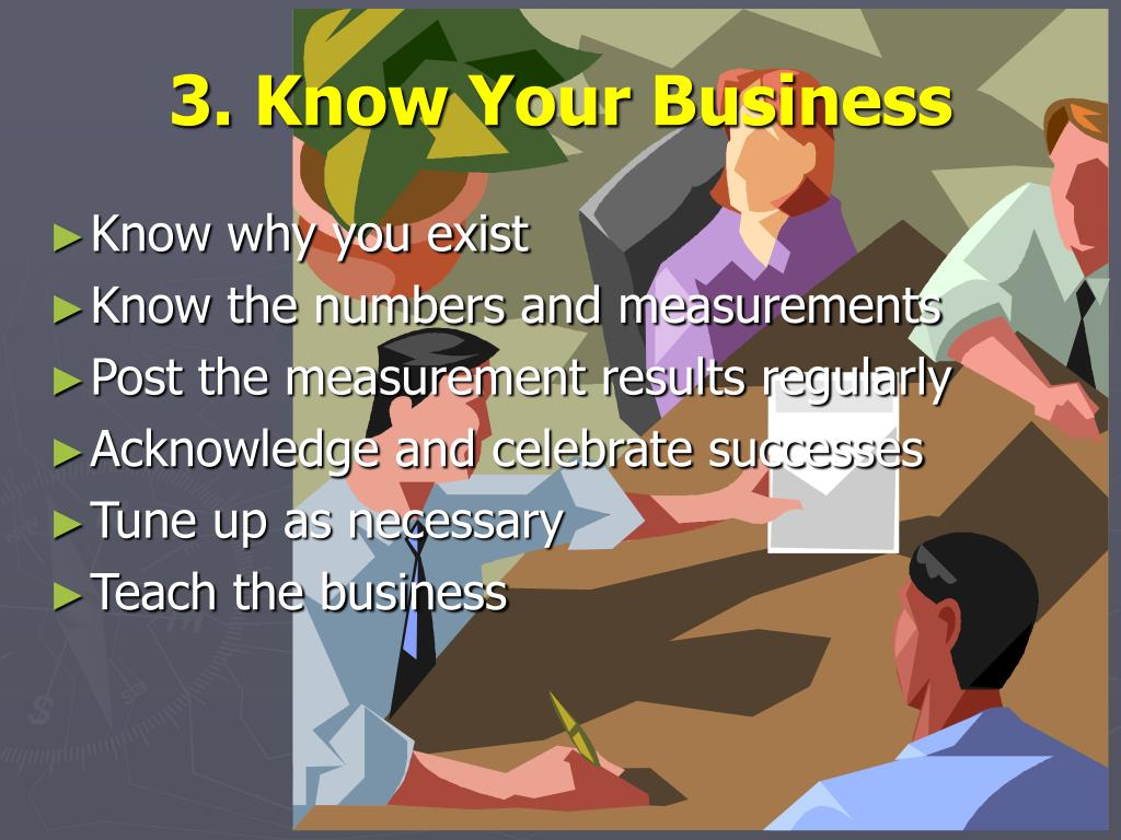 3. Know Your Business