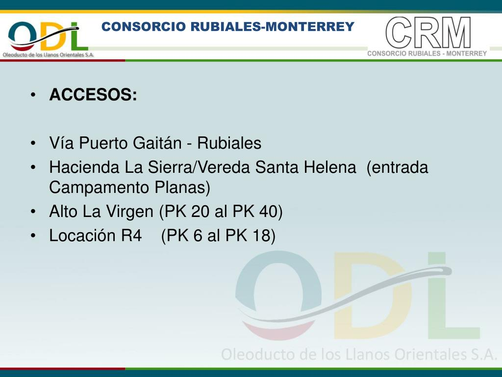 CONSORCIO RUBIALES-MONTERREY