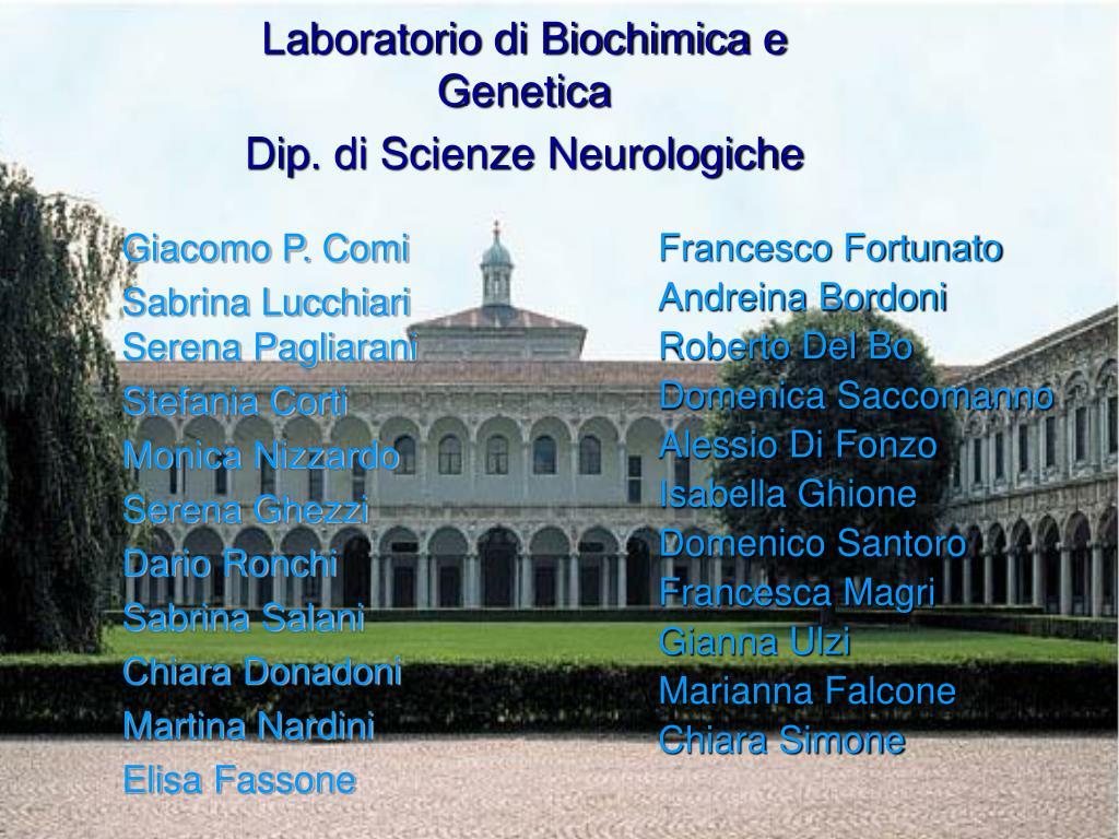 Laboratorio di Biochimica e Genetica