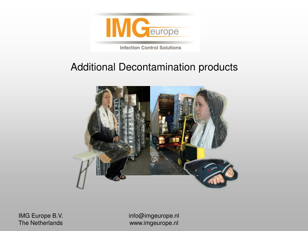 Additional Decontamination products