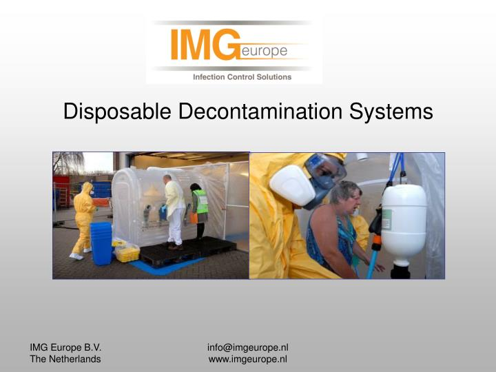 Disposable decontamination systems