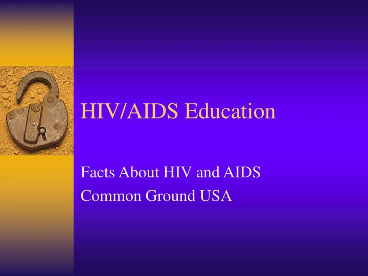 Hiv aids education