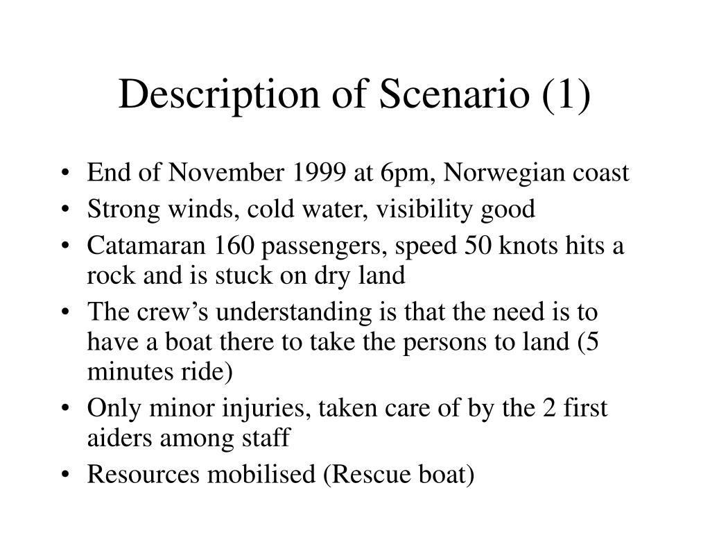 Description of Scenario (1)