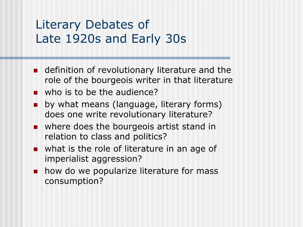 Literary Debates of