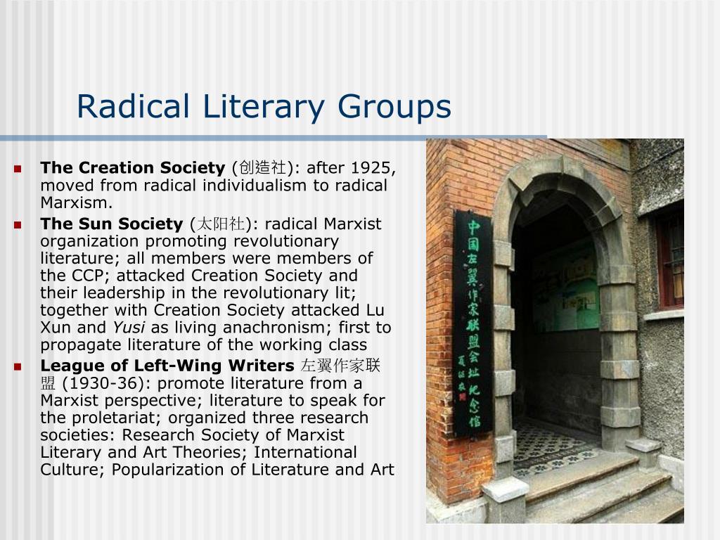 Radical Literary Groups