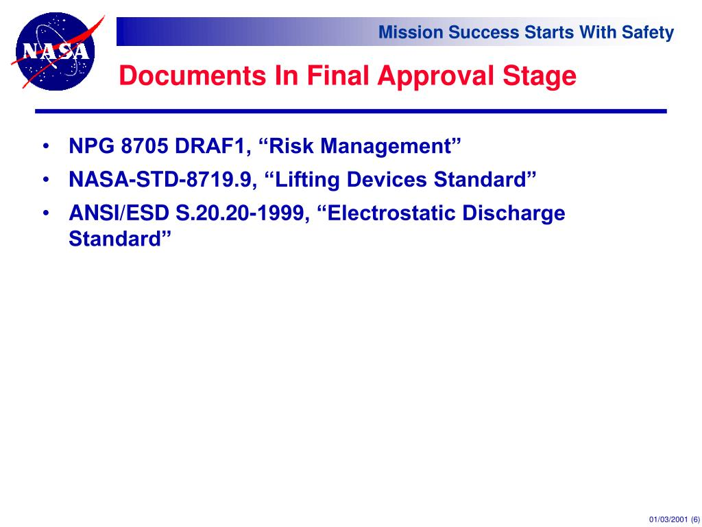 Documents In Final Approval Stage