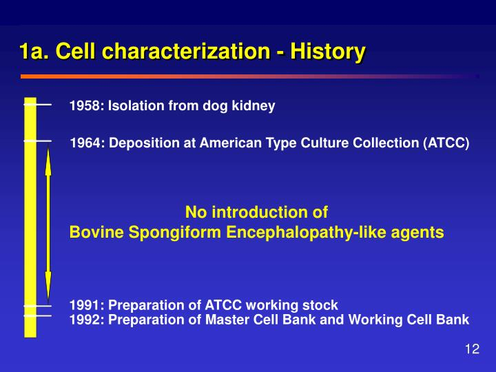 1a. Cell characterization - History