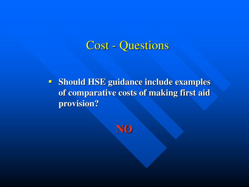 Cost - Questions