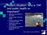 today s situation why is thp and public health so important