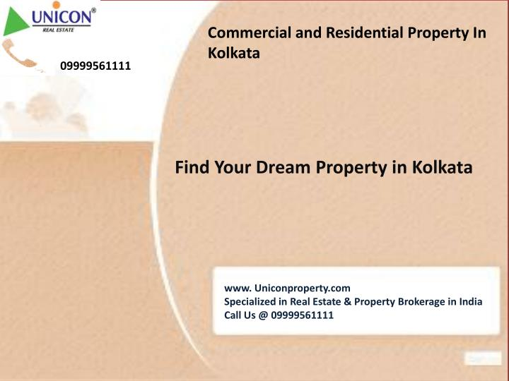 Commercial and Residential Property In Kolkata