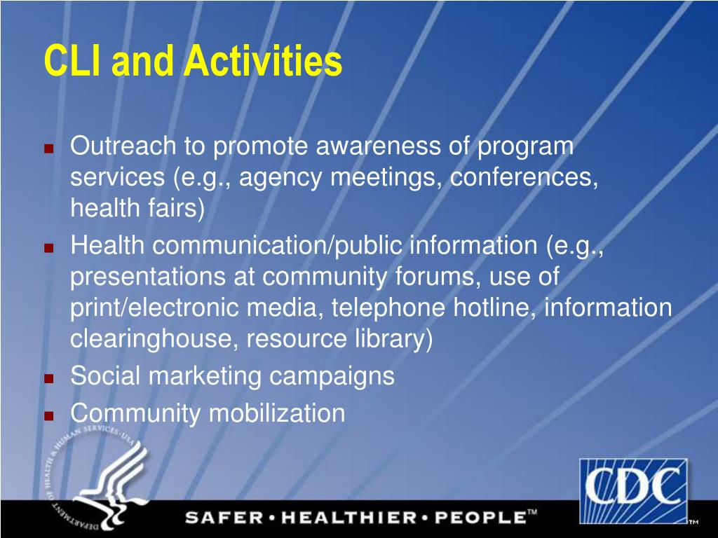 CLI and Activities