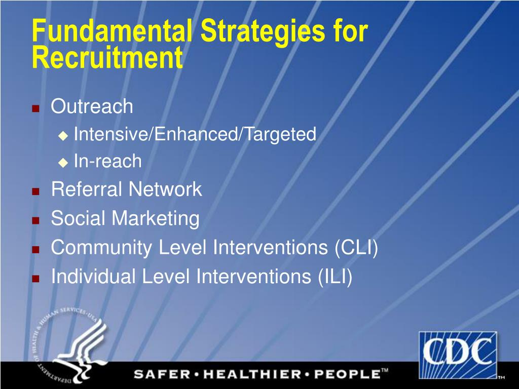 Fundamental Strategies for Recruitment