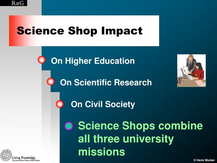Science Shop Impact