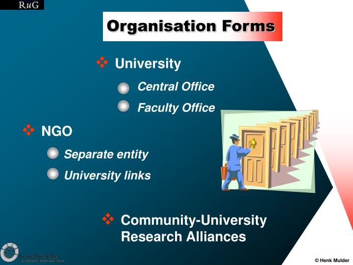 Organisation Forms