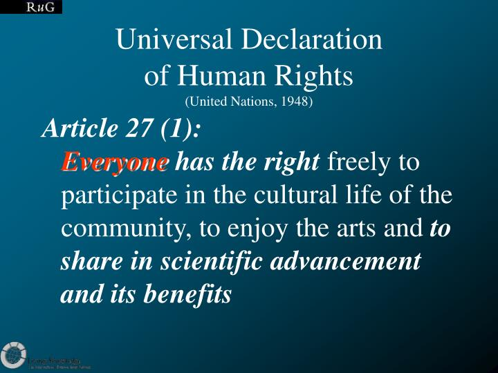 Universal declaration of human rights united nations 1948