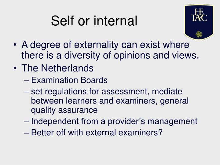 Self or internal