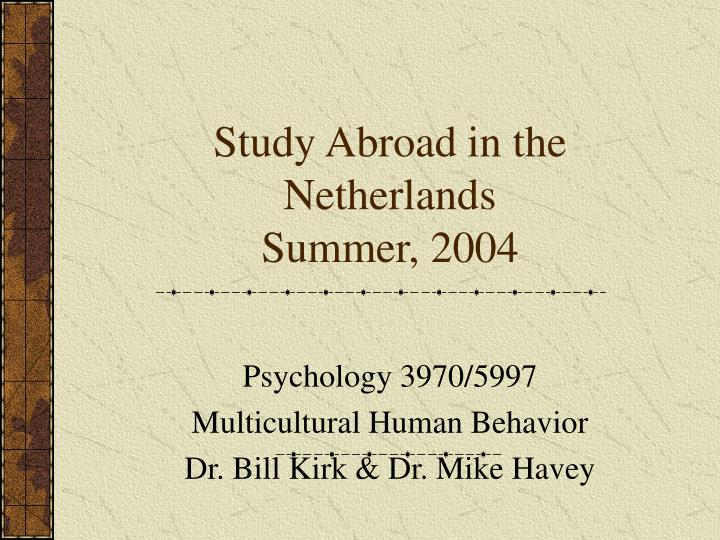 Study abroad in the netherlands summer 2004