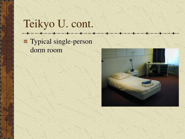 Teikyo U. cont.