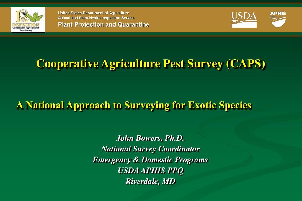 cooperative agriculture pest survey caps