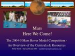 mars here we come